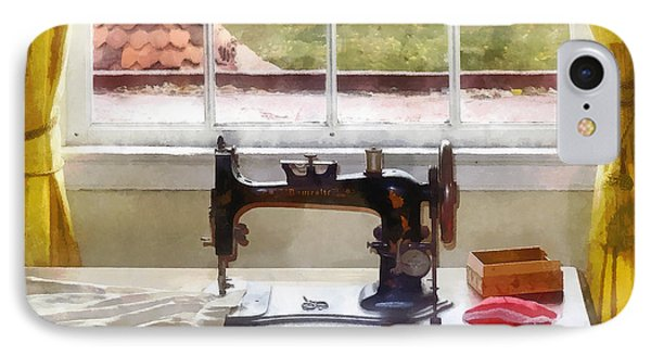 Farm House With Sewing Machine IPhone Case