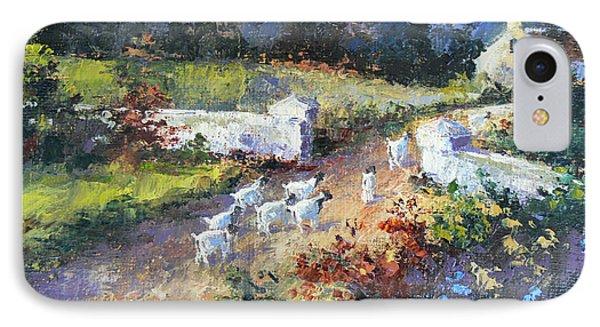 Farm Scene With Goats I IPhone Case