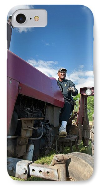 Farmer On A Tractor IPhone Case