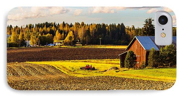 Farmer's Sunny Autumn Day IPhone Case