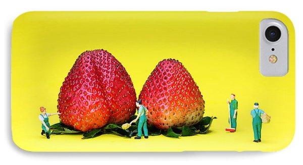 Farmers Working Around Strawberries IPhone Case