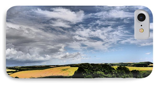 Feather Clouds Over Fields IPhone Case