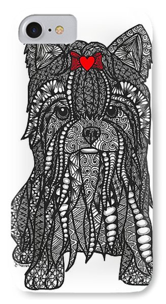 Feisty - Yorkshire Terrier IPhone Case
