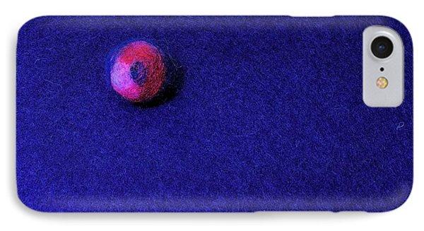 Felt Ball On Blue Felt IPhone Case