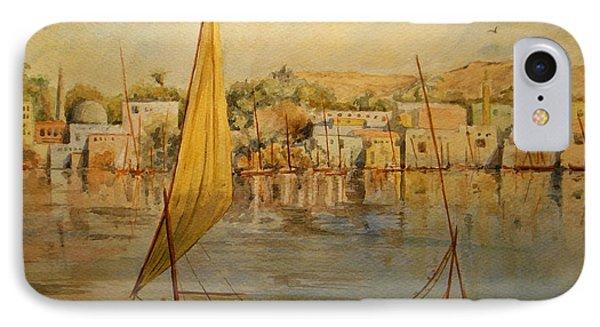 Egyptian iPhone 8 Case - Feluccas At Aswan Egypt. by Juan  Bosco