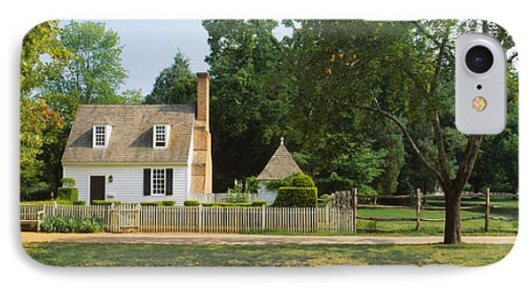 Fence In Front Of A House, Colonial IPhone Case