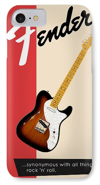 Guitar iPhone 8 Case - Fender All Things Rock N Roll by Mark Rogan