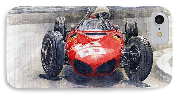 Ferrari 156 Sharknose Phil Hill Monaco 1961 IPhone Case