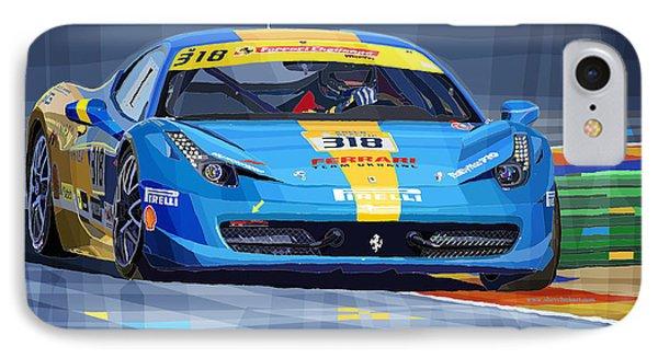 2012 Ferrari 458 Challenge Team Ukraine 2012 IPhone Case