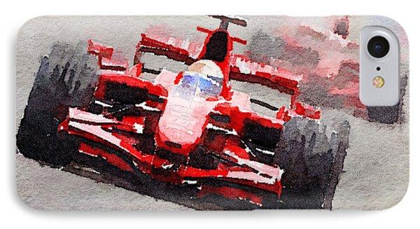 Ferrari F1 Race Watercolor IPhone Case