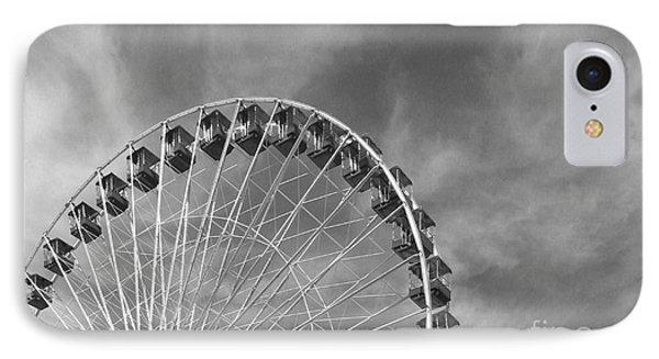 Ferris Wheel Black And White IPhone Case