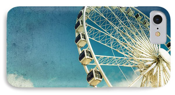 Sky iPhone 8 Case - Ferris Wheel Retro by Jane Rix