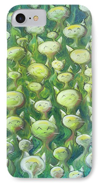 Cat iPhone 8 Case - Field Of Cats by Nik Helbig