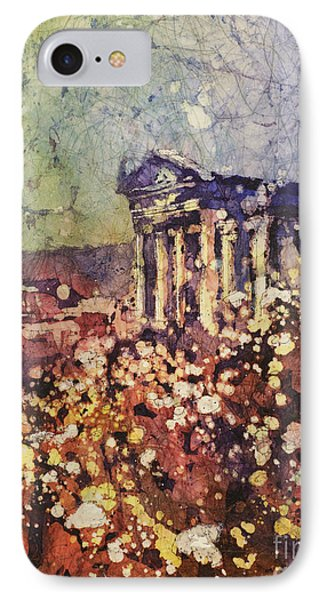 Fields Of Flower- And Roman Temple IPhone Case