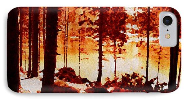 Fiery Red Landscape IPhone Case