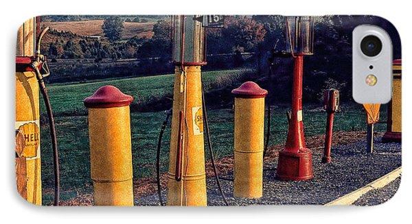 Fill 'er Up Vintage Fuel Gas Pumps IPhone Case