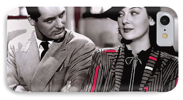 Film Homage Cary Grant Rosalind Russell Howard Hawks His Girl Friday 1940-2008 IPhone Case