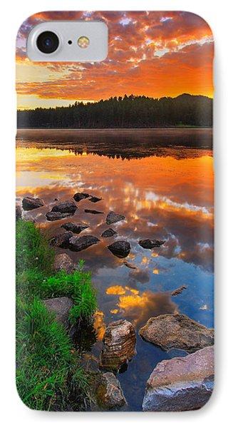 Landscapes iPhone 8 Case - Fire On Water by Kadek Susanto