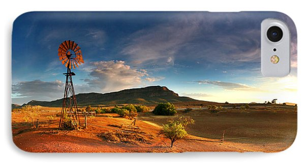 Landscape iPhone 8 Case - First Light On Wilpena Pound by Bill  Robinson
