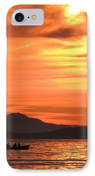 Fish Into The Sunset IPhone Case