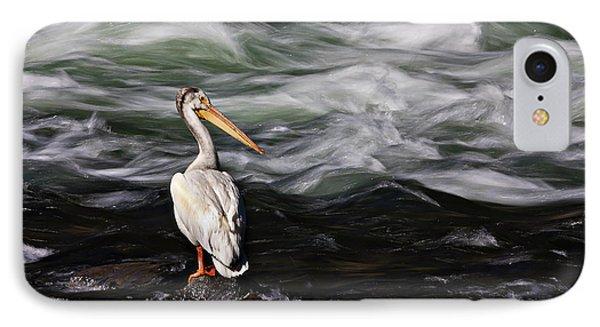 Fishing At Lehardy Rapids IPhone Case
