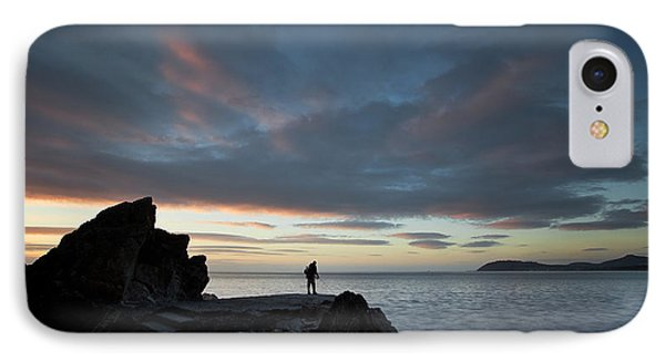 Fishing At Whiterock IPhone Case