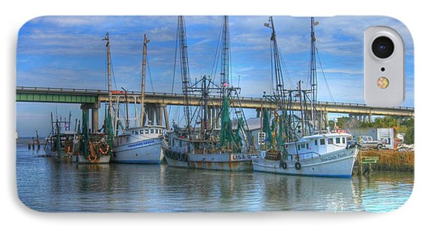 Fishing Boats At The Dock IPhone Case