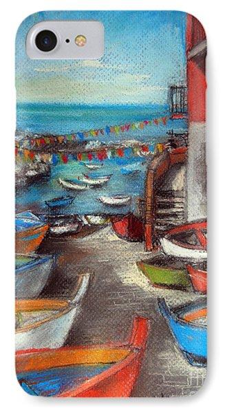 Fishing Boats In Riomaggiore IPhone Case