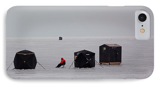 Fishing On Icy Lake IPhone Case