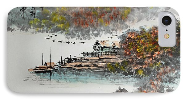 Fishing Village In Autumn IPhone Case