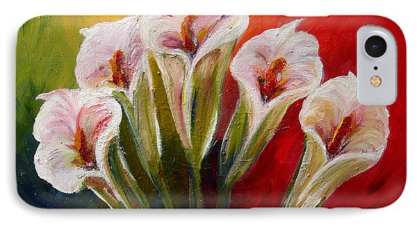 Five Cala Lillies Print IPhone Case