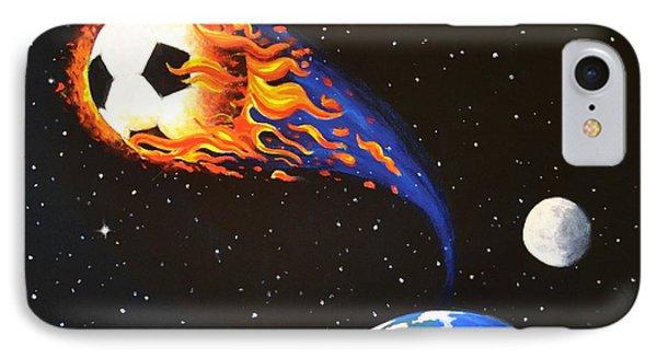 Flaming Balls #3 Soccer IPhone Case
