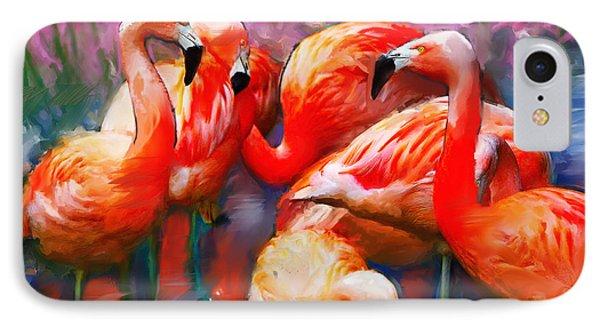 Flaming Flamingos IPhone Case