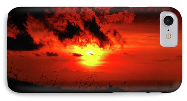 Flaming Sunset IPhone Case