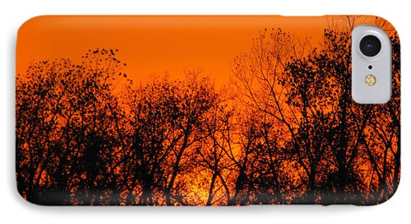 Flaming Sunset II IPhone Case