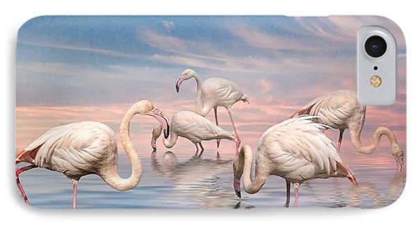 Flamingo Lagoon IPhone Case