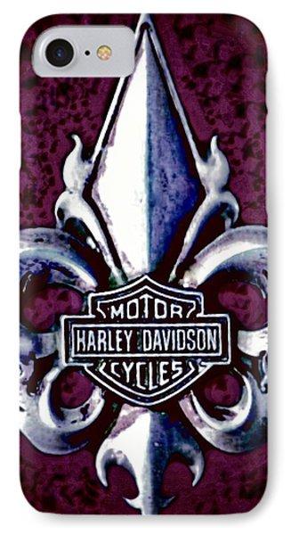 Fleurs De Lys With Harley Davidson Logo IPhone Case