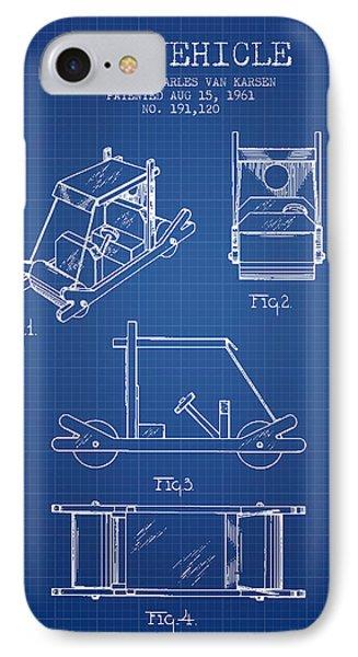 Flintstones Toy Vehicle Patent From 1961 - Blueprint IPhone Case