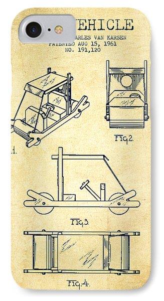 Flintstones Toy Vehicle Patent From 1961 - Vintage IPhone Case