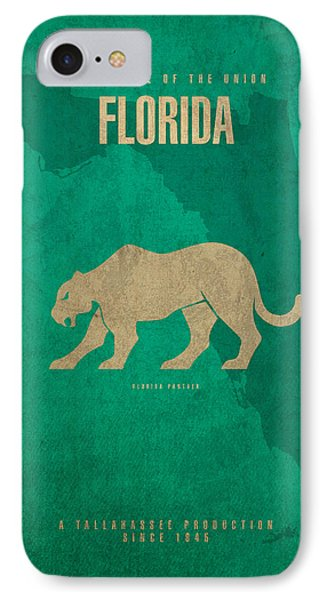 Florida State Facts Minimalist Movie Poster Art  IPhone Case