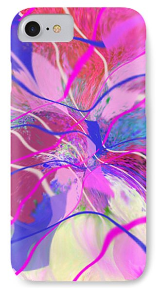 Original Contemporary Abstract Art Flowers From Heaven IPhone Case