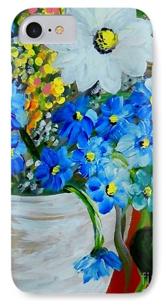 Flowers In A White Vase IPhone Case