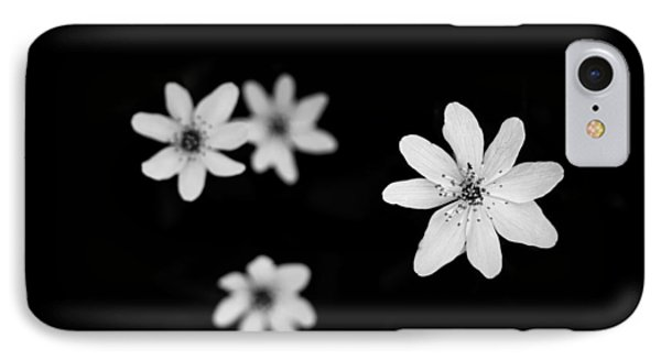 Flowers In Black IPhone Case