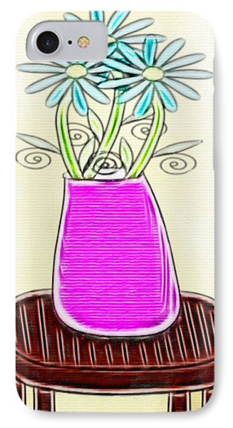 Flowers In Vase - Digital Artwork IPhone Case