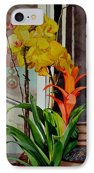 Flowers Sunlight And A Jar IPhone Case