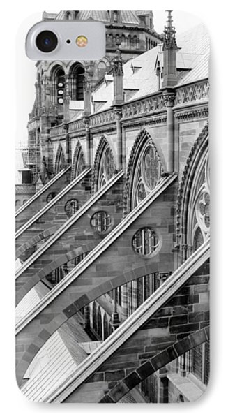 Flying Buttresses Bw IPhone Case