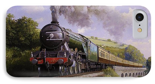 Flying Scotsman On Broadsands Viaduct. IPhone Case