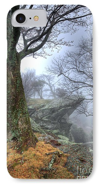 Fog Rocks And Lichen In The Blue Ridge IPhone Case