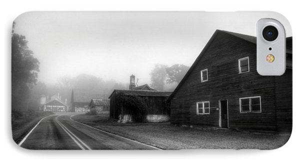 Foggy Morning In Brasstown Nc In Black And White IPhone Case