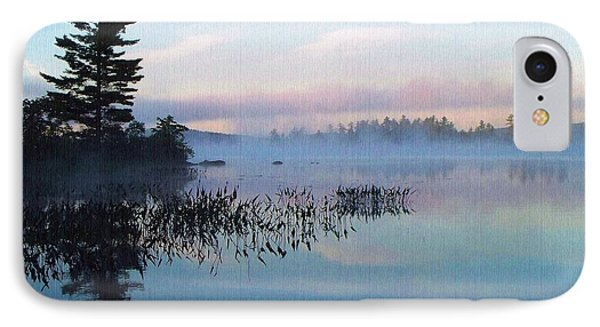 Foggy Morning's Chill -- On Parker Pond IPhone Case